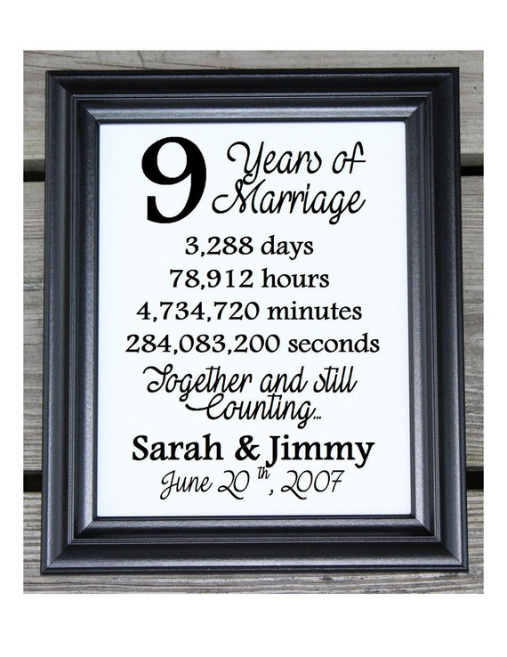 Wedding Gift Year 9 : Cotton Print 9th Wedding Gift 9 Years Together 9 Years ...