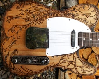 Pyrograph partscaster - one of a kind Electric Guitar