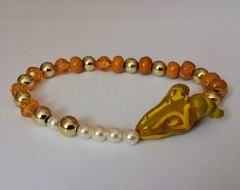 Handmade Golden Dragon Bracelet