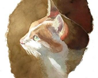 Large Pet Portrait in Watercolor