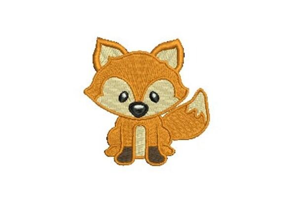 Fox EMBROIDERY Design Woodland Animals Fill Design Machine