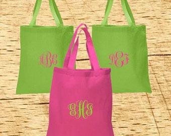 Embroidered Monogram Tote bag, Monogram Tote, Embroidered Tote, Monogram, Bridesmaid Tote, Wedding Tote, Teacher Gift, Totebag