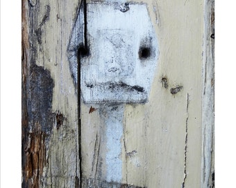 I will play you a tune and then .. I will EAT you! - Photography of Accidental Art found on a fence in Berkeley California. Hungry!!!