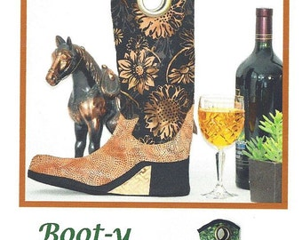 Boot y Wine Tote Pattern