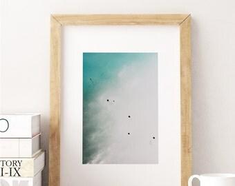 Minimalist Framed Print Abstract Art Sky