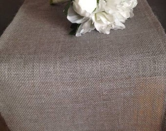 Gray burlap table runner,  burlap runner,Rustic wedding