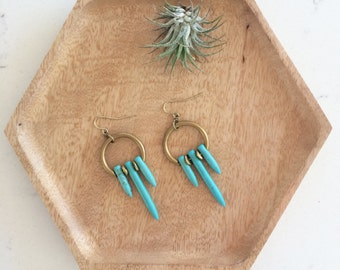 Mini Eos Howlite Spike Earrings