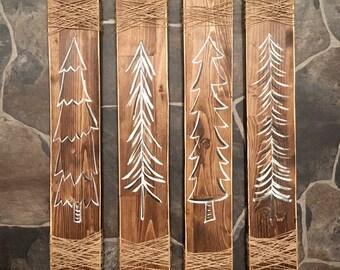 Rustic trees (set of 4)
