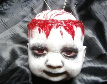 Doll Head Zombie Pin Cushion