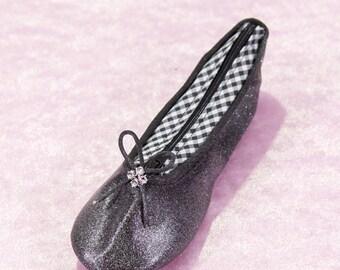 Sequined black bag