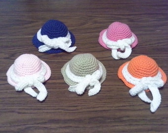 Crocheted Ribbon Hat