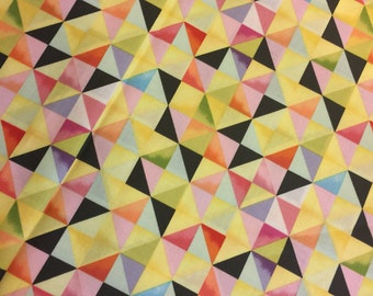 Triangle Geometric Fabric Flight Patterns by Michael Miller Fabrics Designer Cotton Fabric-100% High Quality Cotton By the HALF Yd