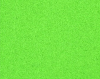 Neon Green Craft Felt Fabric - Kunin Felt - Bright Green Crafting Felt