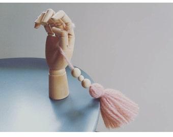 Pompon/Pompom pendant/key ring/wool/decoration/Accessory/Lillefe/powder pink