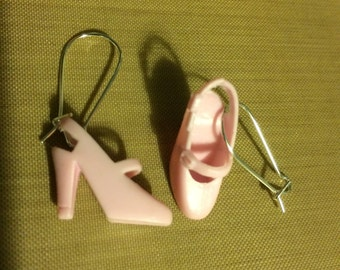 Vintage Barbie Doll shoe earrings