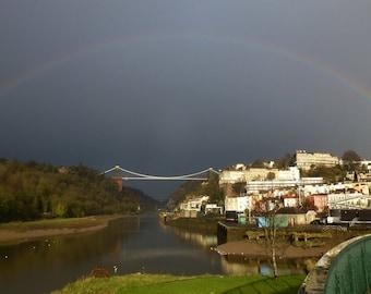 Rainbow over Clifton Bridge