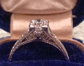 Vintage 1920's Engagement Ring