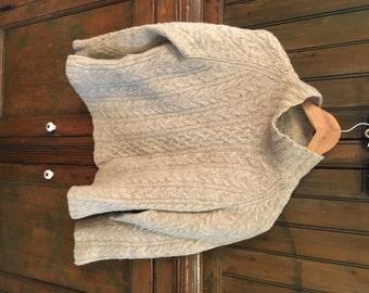 VTG J Crew Irish Fisherman Braided Wool Sweater