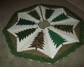 Christmas Tree Skirt #37 Quilted