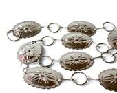 vintage silver concho belt . 70s 80s rocker belt southwestern style . chain link belt
