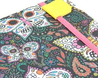 cute iPad Mini cover - Sugar Skull Butterflies-  hardcover case for iPad Mini tablets - Day of the Dead tablet case tech gift