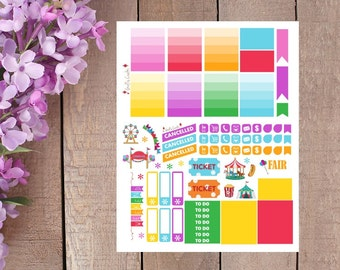 Fair / Carnival Weekly Planner Sticker Kit
