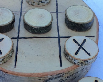 Tree Branch Tic Tac Toe Heirloom Quality Game Set