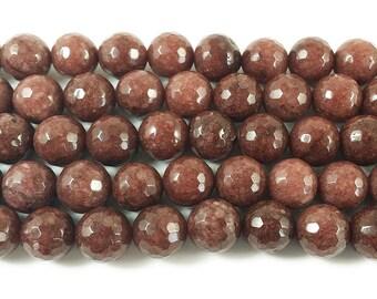 Cola Brown Jade Faceted Gemstone Beads