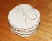organic reusable face pads wash cloths scrubbies rounds - 100% organic cotton and hemp - eco friendly set of 14