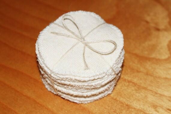 mu serkles - reusable face pads wash cloths scrubbies rounds - 100% organic cotton and hemp - eco friendly set of 14