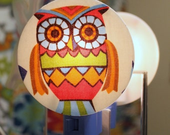 Retro Owls Nightlight
