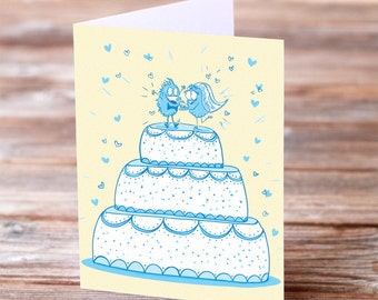 wedding cake toppers love greeting card engagement funny wedding