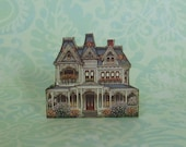 Dollhouse Miniature Victorian Doll's House Stand Up Decoration