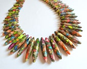 The Khaleesi- Multi Color Jasper Statement Necklace