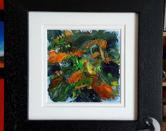 Framed Abstract Painting Stormy Weather