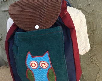Toddler Sized Backpack -- OWL