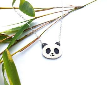Panda Pendant - Hand Cut Sterling Silver