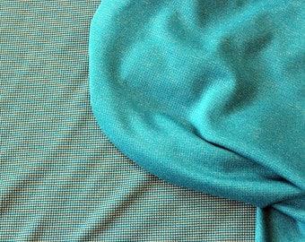 Merino Wool Fabric!! Polartec Power Wool Jersey - Atlantic Blue -  Breathable, fast drying, perfect for sportswear! 2 YARDS!!