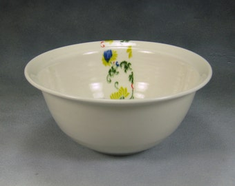 22 oz Porcelain Bowl, Noodle Bowl, Ramen Bowl, Pho Bowl, Rice Bowl, Soup Bowl, Stir Fry Bowl Hand Thrown Porcelain Pottery 24