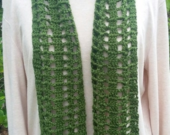 Bamboo and Silk Blend Summer Scarf in Mulberry Leaf