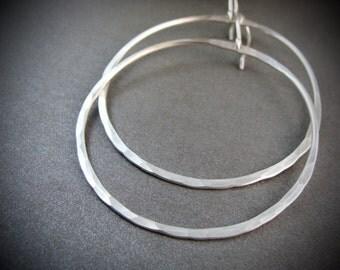 silver moon ... large sterling hoops