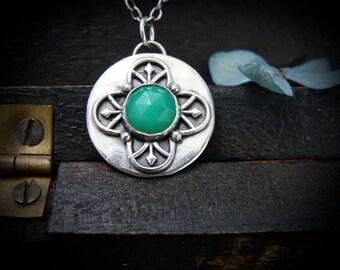 enchanted garden  ... chrysoprase pendant