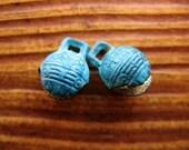 Cabos Blue Brass Patina Bells - 1 pair