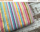 35% OFF CRAZY SALE- Circus Striped Fabric-Reclaimed Bed Linen Fabric-