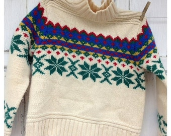 30% OFF SUPER SALE- Vintage Limited Wool Sweater-100 Percent Wool