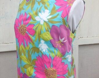 30% OFF SUPER SALE- Flower Power Dress-Vintage-Small