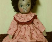 Tessie ooak painted cloth doll