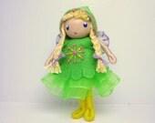 Fairy Bendy Doll by Princess Nimble-Thimble, Waldorf Felt Bendable DollHouse Doll-  Nature Table Decor