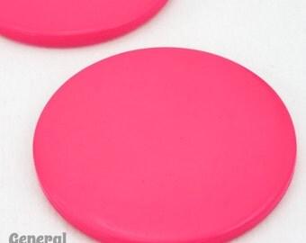 40mm Dark Pink Round Blank (8 Pcs) #4793
