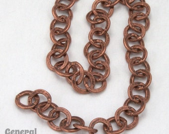 6.4mm Antique Copper Round Cable Chain #CCD224